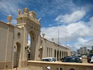 Waikiki Natatorium War Memorial. Opened August 24, 1927.