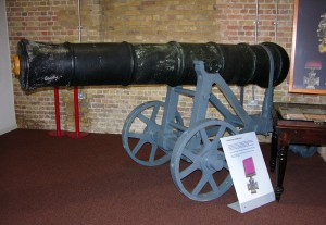 One of the Chinese cannons at the Royal Artillery Museum.