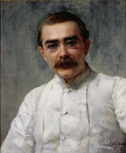 Rudyard Kipling. Portrait by John Collier.