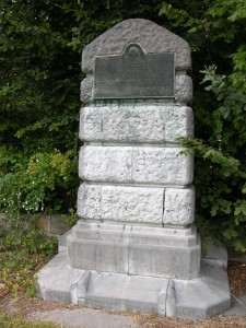The commemorative cairn of the 4th Royal Irish Dragoon Guards at Casteau, Belgium.