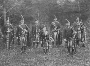 An early Scottish Pipe Band. Inspiration for us all!