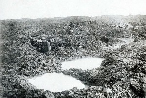 16th Canadian Machine Gun Company. The water and mud of Passchendaele.