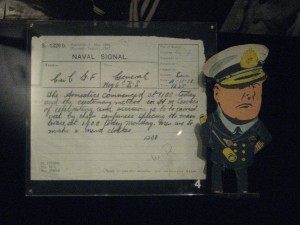 Admiral Beatty artifacts including a naval signal about the armistice.