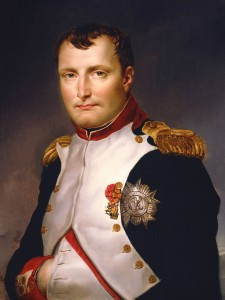 Napoleon Bonaparte wearing both the breast badge and star of the French Legion of Honour.