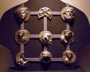 An exhibit of Roman Phalera, from the Burg Linn Museum Center, Krefeld, Germany.
