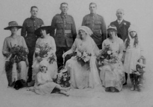 A Great War wedding. One wonders what happened to them all.
