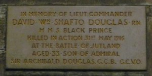 David William Shafto Douglas Commemorative Plaque.