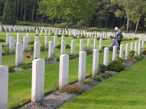 Dutch visitors to Holten Canadian War Cemetery. During our visitor we were fortunate to answer questions of several locals. Memorable for all.