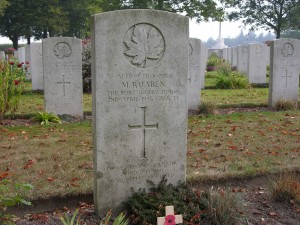 Mario Ruaben. Groesbeek Canadian War Cemetery. A family friend of my father.