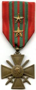 French Croix de Guerre, circa 1944.