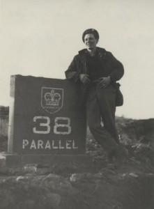 Ed Ferguson at the 38th Parallel, Korea, 1954.