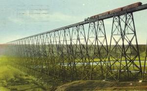 Not for the feint of heart. Bridge on the Old Man River, Lethbridge, Alberta.