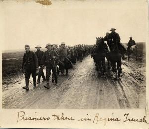 Prisoners taken in Regina Trench