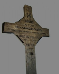 Wood marker from the Battle of the Somme.