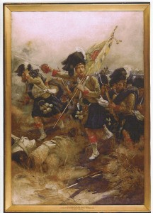 Charge of the 93rd Regiment of Foot (Sutherland Highlanders), Indian Mutiny, November 1857.