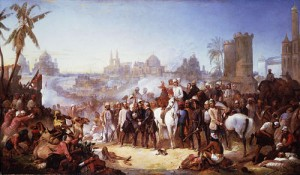 """The Relief of Lucknow"". Painting  by Thomas Jones Barker, National Portrait Gallery, London."