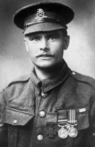 William Harold Coltman VC, DCM and Bar, MM and Bar. Stretcher bearer, North Staffordshire Regiment.