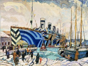 The SS Olympic by Arthur Lismer.