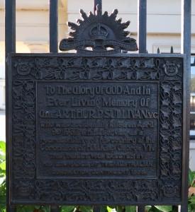 Arthur Sullivan VC plaque, London, England.