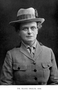 Dr. Elsie Inglis. Wellcome Library Collection, London via Wikipedia.