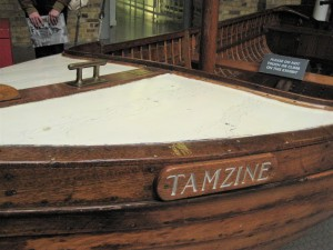 Tamzine. Now preserved at the Imperial War Museum, London, England. (P. Ferguson image, September 2010) Tamzine at the Imperial War Museum, London, England. The evacuation of Dunkirk took place between May 27 - June 4, 1940. (P. Ferguson image, September 2010)