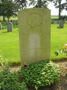 The last Great War fatality of the British Empire, Private George Lawrence Price, St. Symphorien Military Cemetery, near Mons, Belgium. (P. Ferguson image, 2006)