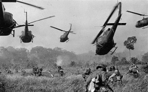 U.S. Army helicopters, Vietnam, 1965. Image by German photo-journalist Horst Faas (1933-2012).