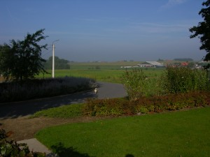 Looking from the Passchendaele Memorial towards the waterfields. (P. Ferguson image, September 2013)