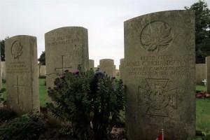 Piper James Cleland Richardson VC, Adanac Military Cemetery, France. (P. Ferguson image, September 18, 2017)