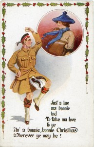 A Great War highland Dancer at Christmas.