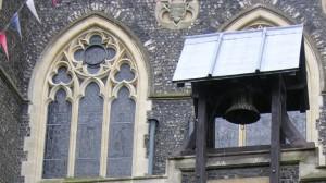 Dover's Great War bell, the Zeebrugge Bell. (P. Ferguson image, September 2005)