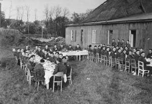 Aurich, Germany  May 1945. Canadian Scottish mess dinner (Image courtesy of the Canadian Scottish Regiment)