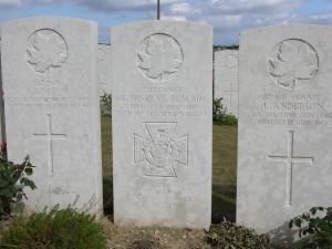 Grave of S.L. Honey VC DCM MM