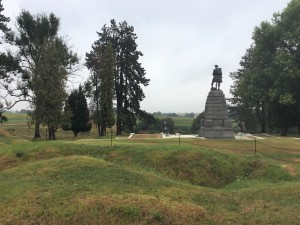 Approaching the 51st (Highland) Division Memorial near Y Ravine. (P. Ferguson image August 2018)
