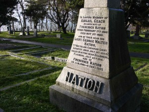 The Nation family memorial at Ross Bay Cemetery, Victoria, B.C (P. Ferguson image, December 2014)