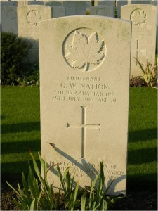 Headstone F.W. Nation