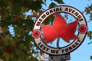 Memorial Avenue sign toppers.