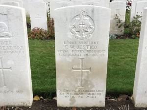 In memory of Sergeant F.W. Jestico, Royal Sussex Regiment. In Loving Memory of My Dear Husband Until We Meet. (P. Ferguson image, 9 November 2018)