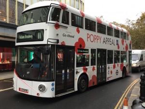 Poppy Appeal bus.
