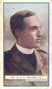 William Robert Fountaine Addison VC continued to serve as a Chaplaincy following the Great War and served as Malta, Khartoum, Shanghaai and elsewhere. (Wiki Commons Image)