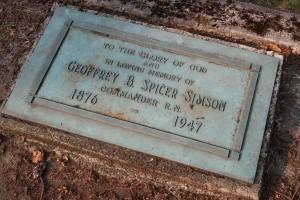 Gravce marker of Geoffrey Spicer-Simson