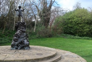 George Frampton's Peter Pan statue at Kensington Gardens, London.