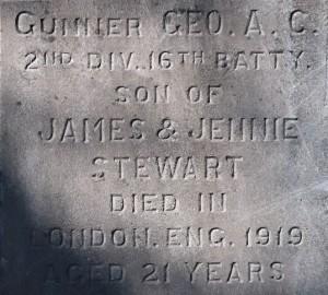 Stewart Family Memorial, Ross Bay Cemetery