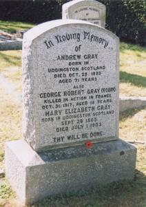 Gray Family Memorial, Ross Bay Cemetery