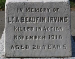 Lieutenant A. Beaufin Irving.