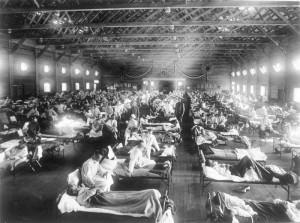 1918 Influenza Pandemic, Camp Fusnton, U.S. Army