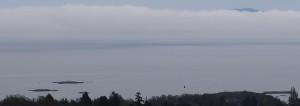 Looking eastwards from Mt. Tolmie.