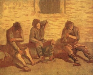 László Mednyánszky, Painting, Lice, Soldiers, 1915