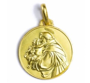 "Medallion depicting St. Anthony, the saint of lost things. In Parade's End Sylvia tells Christopher, ""I still wear my St. Anthony to...look after you...see."" (Vatican image)"
