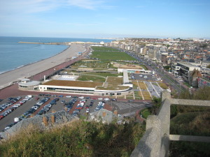 Looking from the high ground towards Dieppe. (P. Ferguson image, September 2009)
